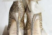 Shoes in Gold and Shades