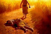 Abel zabity przez Kaina.