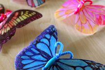 borboleta de garrafa pet