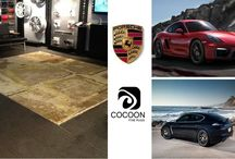 Cocoon and Porsche / Cocoon and Porsche are both known for cutting edge designs in the respective categories...this collaboration brought the two Brands together to showcase all that is new that they have to offer!