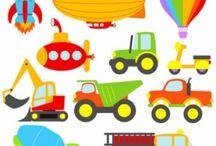 dětské motivy auta