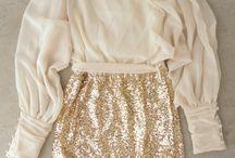 conjuntos de pollera y blusas