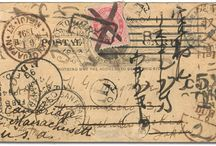 letters  post cards   enveloppe / by Carole Chevallet