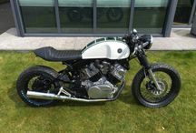 Cafe racers / Cafe racer motorcycles.