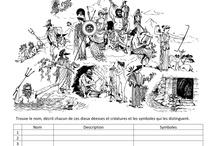 ♠ School: mythology ♠ / Mythologie - classe - histoire et littérature - cycle 3