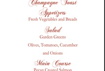 Wedding Menus / Curated by Canopy Rose Catering, a Tallahassee, Florida catering and special event company.