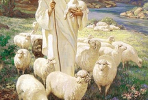 """THE GOOD SHEPHERD / Come unto me all ye that labour and are heavy laden and I will give you rest. Jesus also said,""""""""I am among you as one who serves.""""Luke22--27.                                Love your Neighbour as yourself."""