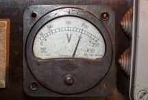 Old vintage Voltmeter Amperemeter