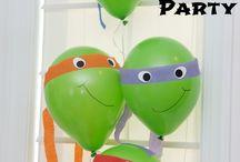 Teenage Mutant Ninja Turtles (TMNT) / TMNT themed birthday party ideas and cakes.