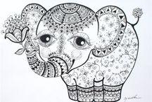 decoupage słonie
