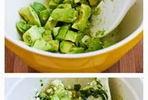 Cucumber, avocado and mint salad