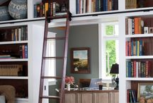 bookcase with library ladder / bookcase ideas ...