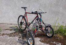 reverse trike MTB bicycle / reverse trike MTB bicycle