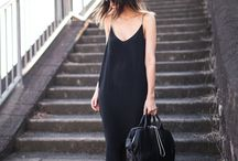 Just Black Slip Dresses / In search of perfection
