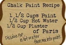 Chalck paint recipe / Chalk paint recipe