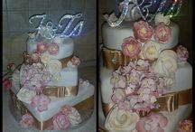 Strasszokkal díszített esküvői tortadíszek - Swarovski wedding Cake monogram toppers / Wedding cake monogram toppers decorated with Swarovski crystals