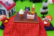 こたつとバイキンマン❤アンパンマン アニメ&おもちゃ