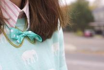 cute ♥ pink ♥ mint