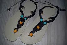 sandálias de macramè / Havainas personalizadas