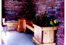 Cedar planter box with bench / by David Tisdale