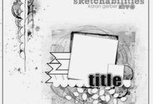 Scrapbooking Sketch