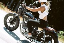 Biker Girl / Motorcycle