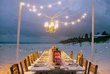 Beach dinner Receptions