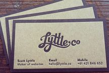 Logos, packaging and business cards