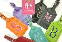 Sew Gracious Luggage Tags / Monogrammed Luggage Tags are genuine leather!  Travel in style & never loose your suitcase on the luggage carousel again!