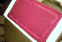 TAPPETI IN FETTUCCIA / by giochi di crochet ravenna