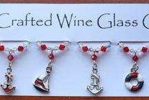 Wine Glass Charms / Handmade Themed Wine Glass Charms