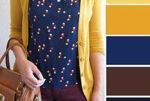 Paleta colores vestuario