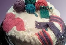 gâteaux pour tricoteuses , knitter'cake / les gâteaux sur le thème du tricot ... donnent une vision des tricoteuses pas très glamour !