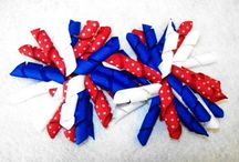 Red, White and True Blue / Red, White and Blue - the classic colors of the 4th of July, Memorial Day, Flags, and Summer Time