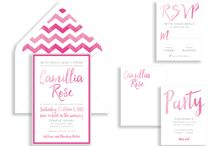 Shades of Pink - Bat Mitzvah / Bat Mitzvah Invitations and Party Ideas in shades of pink