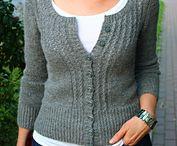 Strikket jakke/genser til dame
