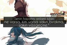Anime replikleri/sozleri turkce / genel olarak anime grup ve sayfalardan aldigim fotograflardir.