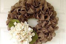 wreaths burlap