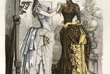 Fashion plates: 1880s / Fashion plates and paintings from the 1880s.