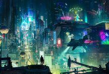 Cyberpunk City by adamsadlos