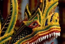 Naga, dragon, snake