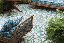 Stenciled floor designs