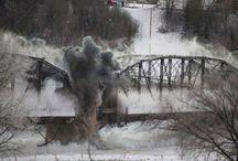 Traffic Bridge Coming Down