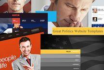 Politics Website Design / Politics web design templates including politics, political parties, action groups, elected officials, etc.