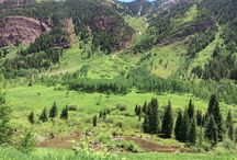Hotel Aspen Hike to Maroon Bells / A hike along Crater Lake Trail at the iconic Maroon Bells – if you've ever see a picture of Aspen, it's probably of these magnificent mountains that define the Colorado Rockies.