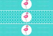 Flamingo Water Label Free Printable
