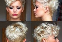 Pixie curly haircut round face