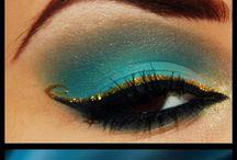 Haare & Beauty / beauty,soft eyemakeup with brown eyeshadows,makeup
