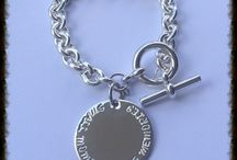 Heavy Cable Bracelet / Our heavy cable bracelet with large stamped sterling silver pendant