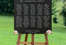 Wedding seating charts.